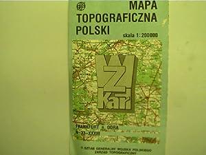 Mapa topograficzna polski - skala 1:200000, Frankfurt: Autorenkollektiv:
