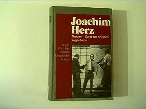 Joachim Herz, Theater - Kunst des erfüllten: Koban, Ilse (Hsg.):