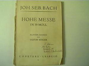 Hohe Messe in H-Moll, Klavier-Auszug von Gustav: Bach, Johann Sebastian: