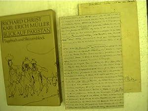 Blick auf Pakistan, Tagebuch und Skizzenblock,: Christ, Richard und