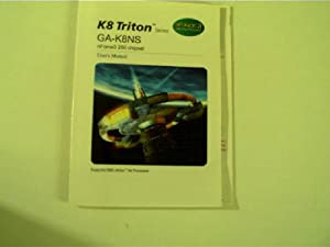 User s Manual: K 8 Triton Series, GA-KJ8NS nForce3 250 chipset,