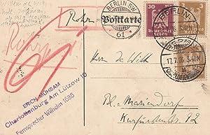 Handschriftliche Postkarte. 10 Zeile. Datiert 17. Juli: MÜHSAM, Erich.