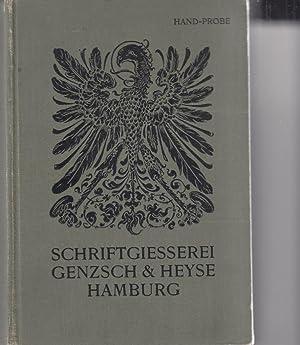 Proben von Schriften, Initialen und Verzierungen. Hand-Probe