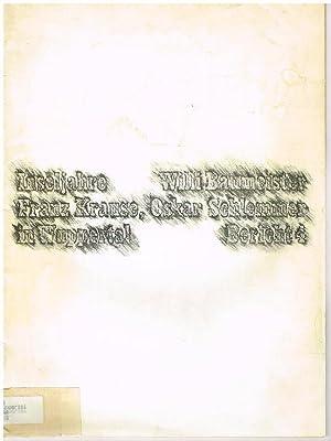 Inseljahre. Bericht 4.: Willi Baumeister, Franz
