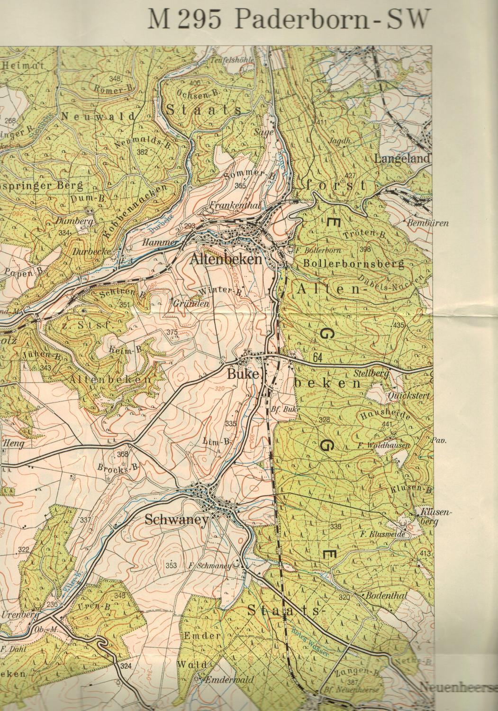 Topographische Karte Nrw.Topographische Karte 1 50 000 Blatt M 295