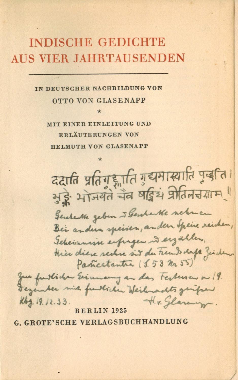Indische Gedichte Aus Vier Jahrtausenden In