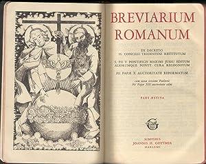 Breviarium Romanum. Pars Aestiva: Breviarium Romanum
