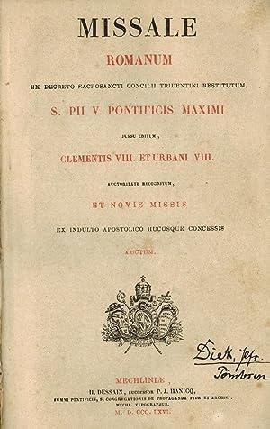 Missale romanum ex decreto sacrosancti concilii tridentini: Missale Romanum
