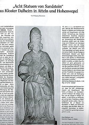 Acht Statuen von Sandstein aus Kloster Dalheim: Hansmann, Wolfgang