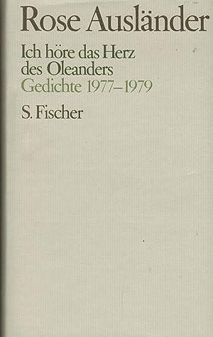 Ich Höre Das Herz Des Oleanders Gedichte 1977 1979 Von