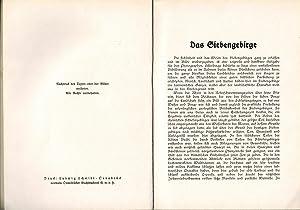 Das Siebengebirge (Deutsches Land / Deutsches Volk Band 3): Sander, August