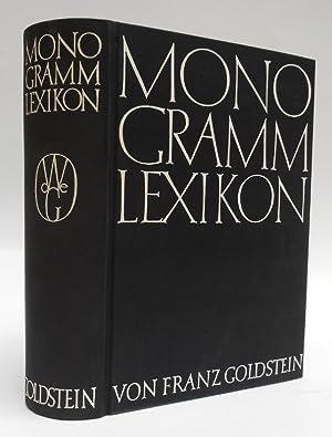 Monogramm-Lexikon. Internationales Verzeichnis der Monogramme bildender Künstler: Goldstein, Franz