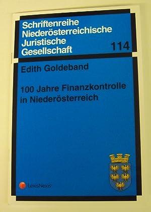 100 Jahre Finanzkontrolle in Niederösterreich.: Goldeband, Edith