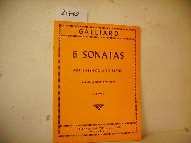 6 Sonatas for Bassoon ( Fagott ) and Piano Vol. 2 - content sonata 4 - 6