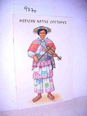 Mexican Native Costumes 14 coloured tables: Covarrubias, Luis