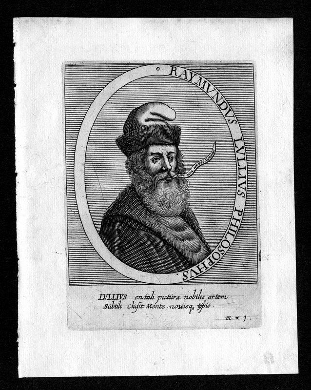 Raimundus Lullus (1235-1315). Franziskaner, Philosoph. Portrait. Bry, Johann Theodor de (1561-1623), Jean Jacques Boissard.