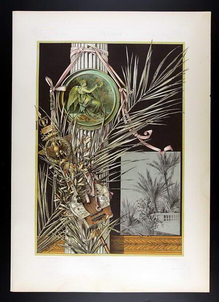 Palm Tree, Laurel   Palme, Lorbeer I: E. Unger, Anton