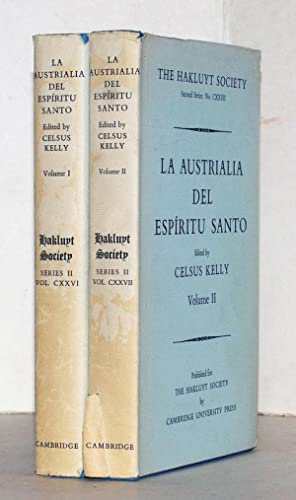 La Australia del espiritu santo. The Journal of Fray Martin de Munilla O.F.M. and other documents...