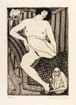 Neckerei. Signierte Originalradierung. 1912.: Martin Erich Philipp (MEPH, 1887-1978).