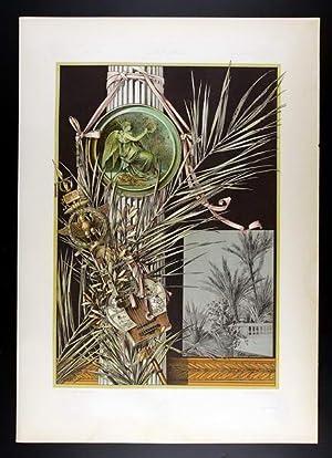 Palm Tree, Laurel   Palme, Lorbeer I: E. Unger, Anton Seder (1850-1916).