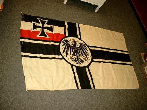 Reichskriegsflagge Des Deutschen Reiches Original Flagge Alter