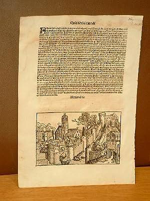 Alexandria. Einzelblatt aus dem Liber Chronicarum, Nürnberg: Schedel, Hartmann