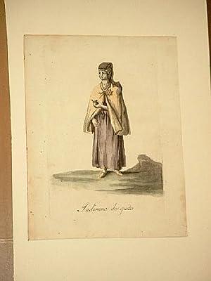 Indienne de Quito. Altkolorierter Kupferstich um 1800.