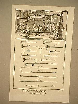 Marine, Forge des Ancres, Encolage du Second Bras.