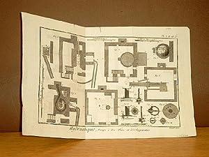 Hydraulique, Pompe a Feu, Plans et Developpements. ( = Planche 1, 2 + 3 auf einem Blatt ) ( ...