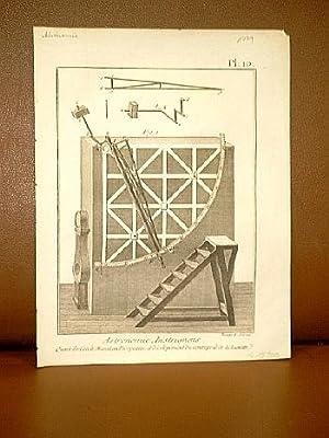 Astronomie Instrumens ( Instruments ), Quart de cercle mural ou Instrument Mural en Perspective de ...