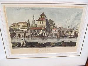 Hamburg. Das alte Baumhaus. Farbradierung nach einem Kupferstich von C. Frosch nach Radl um 1900.