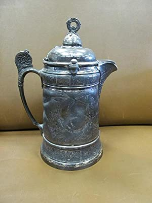 Reed & Barton: Großer versilberter Humpen oder Krug - silverplated Pitcher or Jug or Tankard.