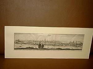 Zeitz: Gesamtansicht. Kupferstich von Merian um 1650.: Merian, Caspar