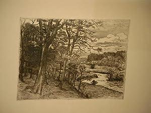 Alstertal - Radierung.: Eitner, Ernst ( *1867 - 1955 )