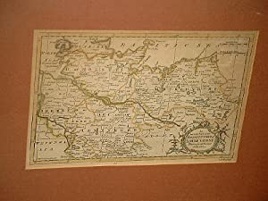 An accurate Map of the Northern Part of Lower Saxony. Altkolorierter Kupferstich von G. Rollos um ...