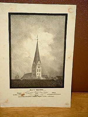 Turm der Petrikiche in Hamburg: Der 7. Mai 1842 - Einst herrlich u. bewundert - Jetzt in Trümmern ...