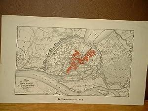 Plan von Hamburg und seinen Vorstädten, Lithographie von H. Mahlmann, Berlin 1841-1842.