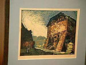 Probstei Lüne: Farbig radierte Ätzung und Hochätzung. Radierung.: Illies, Arthur ( *1870 - 1952 )