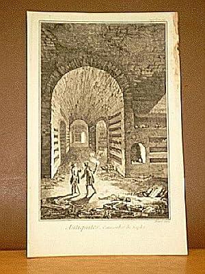Catacombes de Naples. ( Kupferstich von Benard aus der Enzyklopädie von Denis Diderot und D'...