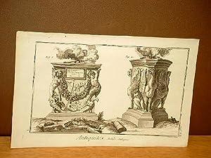 Autels Antiques. ( Kupferstich von Benard aus der Enzyklopädie von Denis Diderot und D'Alembert...