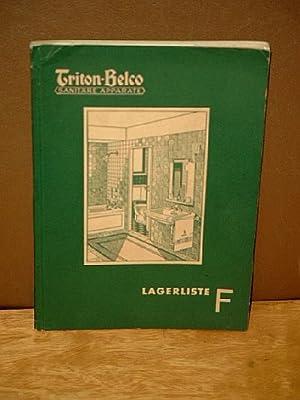 Triton-Belco Sanitäre Apparate: Lagerliste F ( April 1936 )