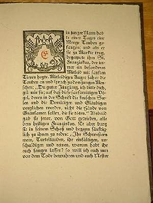 Legenden des heiligen Franziskus. Übertragen von R.G.Binding. Gefertigt von Ottheinrich Heubner, ...