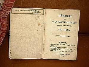 Memoire.: Davout, Prince d'Eckmühl ( Marechal le )