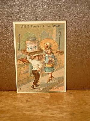 Liebig-Bilder: Einzelserie Nr. 061: 61: Liebeserklärung des Konditors.