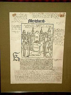 Meydeborch - Magdeburg: Holzschnitt aus der *Cronecken: Bote, Conrad
