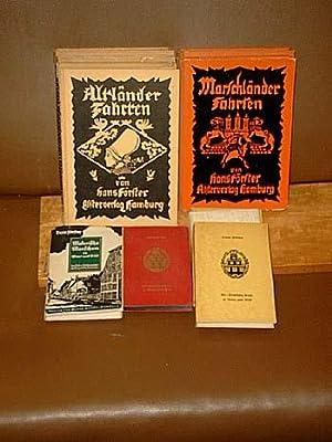 Konvolut von 11 Bänden mit Holzschnitt-Illustrationen: Altländer Fahrten ( 4 Exemplare ) - ...