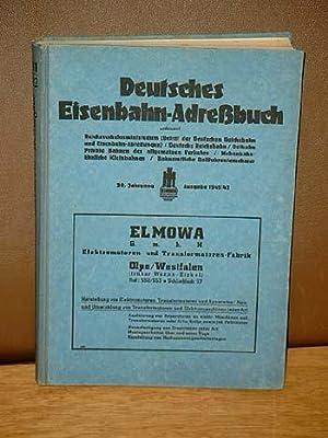 Deutsches Eisenbahn-Adreßbuch. 20. Jahrgang, Ausgabe 1941/42. Umfassend Reichsverkehrsministerium (...