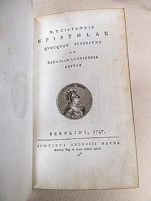 Epistolae quotquot supersunt ad exemplar Londinense editae ...