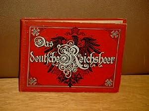 Das deutsche Reichsheer. Leporello mit 40 chromolithographierten Tafeln von G. Krickel und R. ...