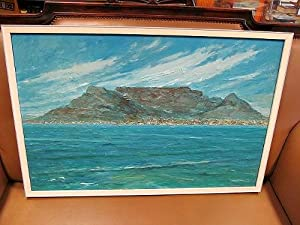 Kapstadt - Der Tafelberg. Cape town - The Table mountain: Acryl und Öl auf Leinwand / Acryl and o...